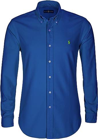 Polo Ralph Lauren | Camisa para hombre | Slim Fit | Camisa de manga larga | Varios colores | S-XXL: Amazon.es: Ropa y accesorios