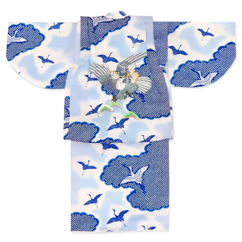 【本物新品保証】 初節句 お正月 男の子 でんちセット 男の子 刺繍入り 赤ちゃんの着物 ちゃんちゃんこセット 化繊「青系 化繊「青系 でんちセット 鷹」KBDS007 B07MGLJ6WY, ピボット:d02fd48a --- a0267596.xsph.ru