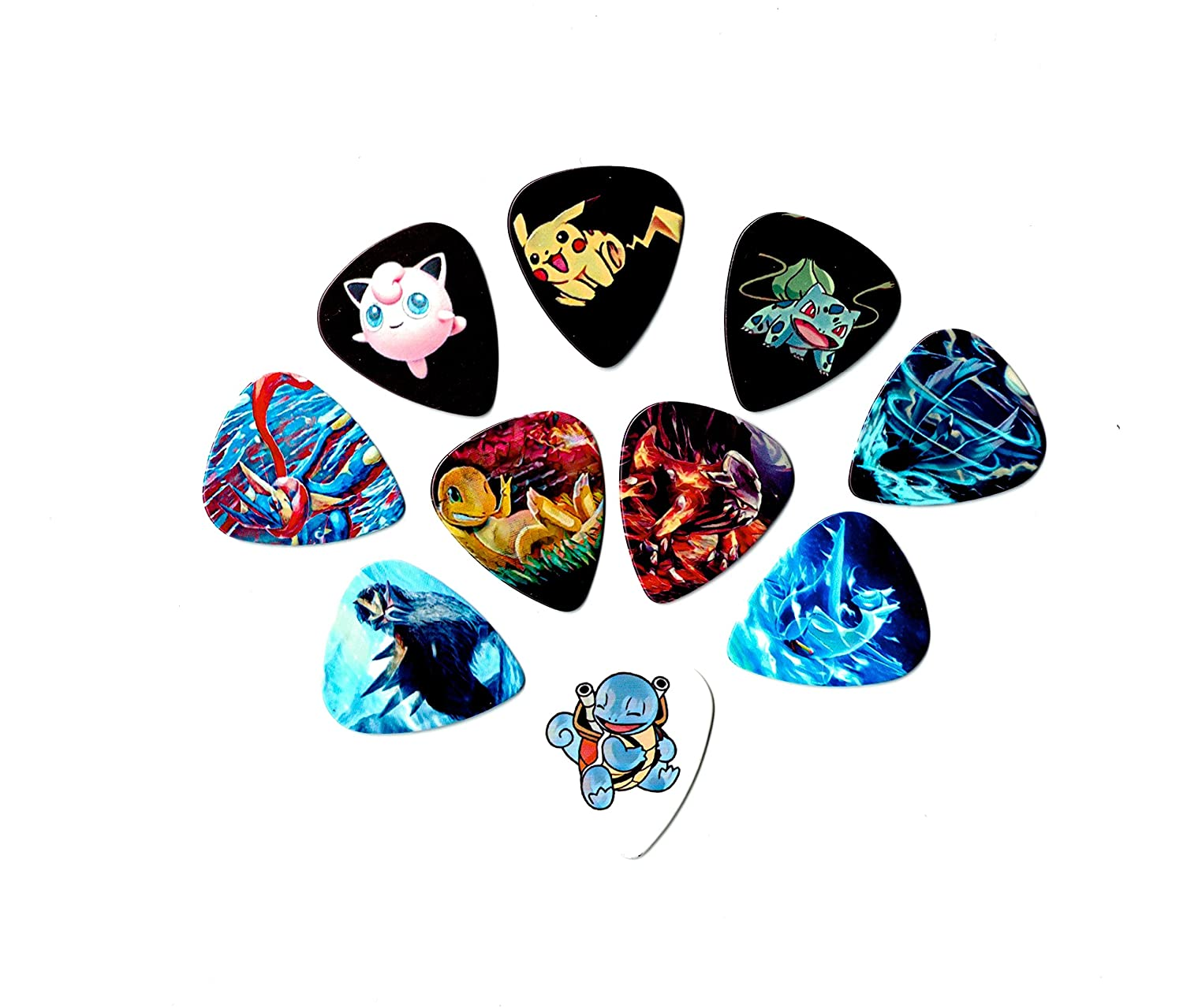 Amazon.com: Pokemon Guitar Picks (10 beautiful picks in a packet ...