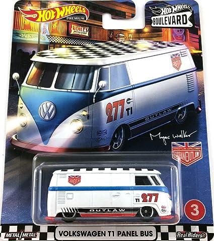 Amazon Com Hot Wheels 2020 Boulevard Series Volkswagen T1 Panel Bus Real Riders Toys Games