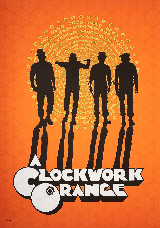 MightyPrint Clockwork Orange Paperless Lasting Light catching d/écor Stanley Kubrick Wall Art