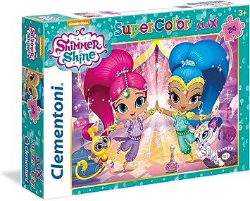 Clementoni - Maxi Puzzle de 24 Piezas Shimmer & Shine (24486): Amazon.es: Juguetes y juegos