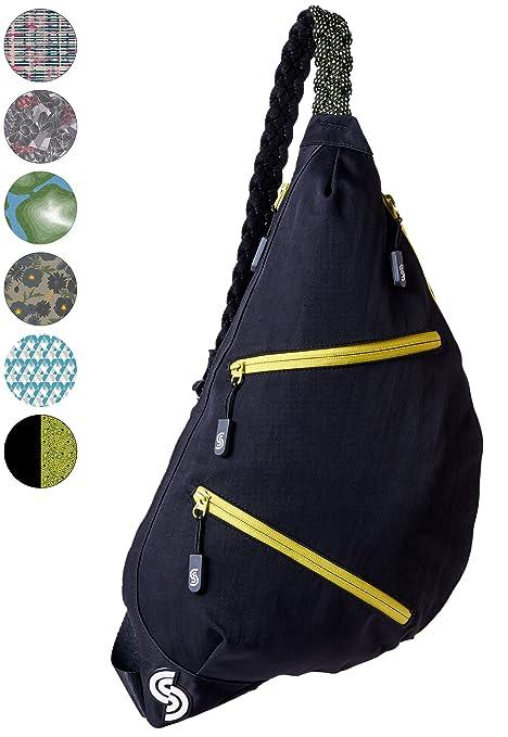 5098859856 Slope Sling Bag for Women Kids School Crossbody Shoulder Backpack One Strap  Daypack - Apple Black