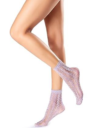 Ladies 1 Pair Oroblu Jasmine Floral Shoe Liner Socks