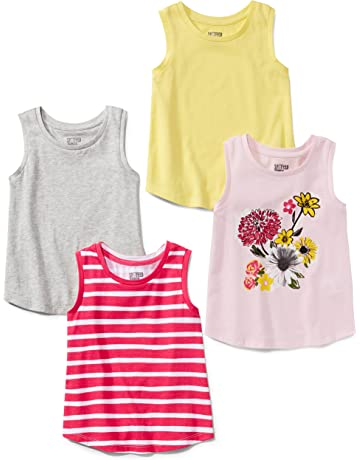 8bb2abb7f74fc6 Spotted Zebra Girls  4-Pack Sleeveless Tank Tops