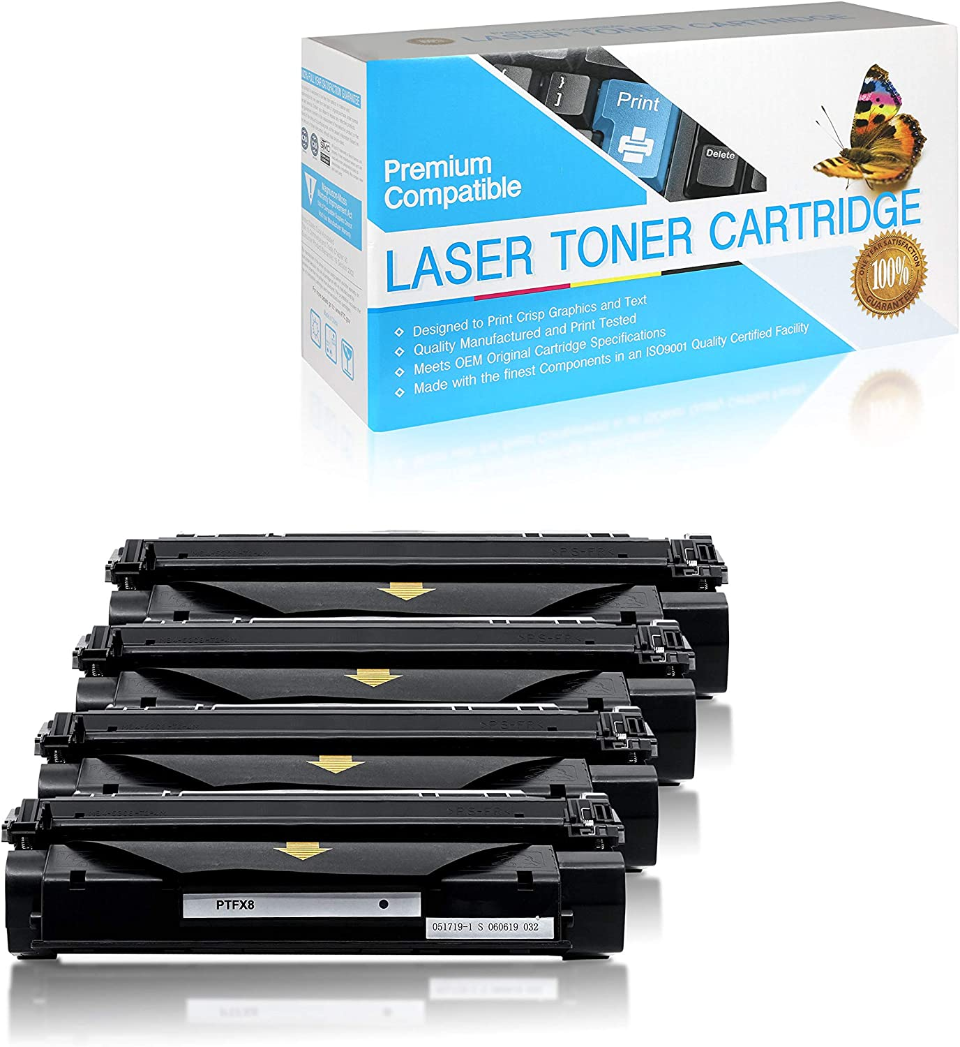 FX8 SuppliesOutlet Compatible Toner Cartridge Replacement for Canon FX-8 S35 Black,4 Pack