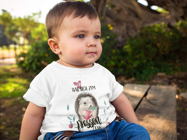 MoonWorks/® Baby T-Shirt Kurzarm Babyshirt Ich hab Dich zum fressen gern lustig Jungen M/ädchen Shirt