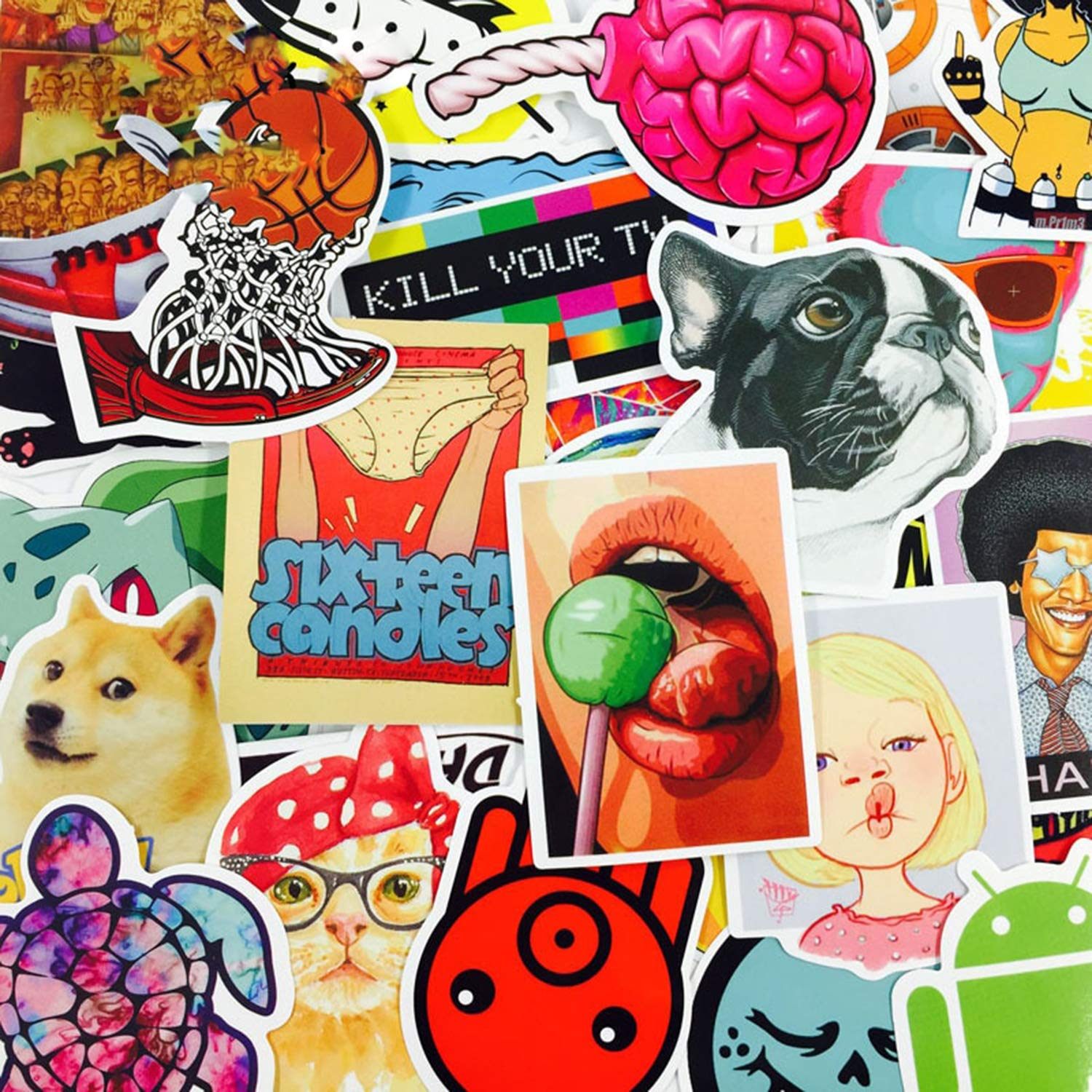 4000pcs Supper Mixed Funny Cool Stickers for Laptop Water Bottle Luggage Snowboard Bicycle Skateboard Decal for Kids Teens Adult Waterproof Aesthetic Stickers