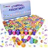 100Pcs Assorted Stamps All in One Box Including 100 Different Designs for Kids Easter Egg Fillers, Easter Basket Stuffers, Easter Egg Stuffers