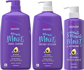 Aussie Miracle Moist Shampoo, Conditioner & 3 Deep Conditioner