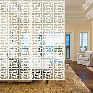 YIZUNNU 12Pcs/Set Room Hanging Screen Divider Panels Home Panel Screen DIY Home Decor 11.4inch White