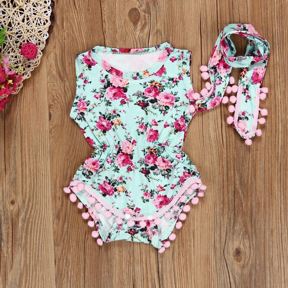 ❤ Conjunto de Mameluco para niñas, recién Nacido bebé niñas Mono Floral Mono Mameluco Traje de niña Conjunto de Ropa Absolute: Amazon.es: Ropa y ...
