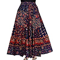 JWF Women's Cotton Wrap Around Western Wear Skirt (SK_5361, Multicolour, Free Size)