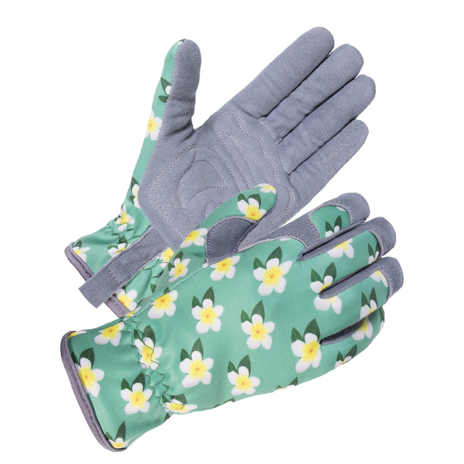 SKYDEER Womens Gardening Gloves with Deerskin Leather Suede for Yard Work, Rose Pruning and Daily Work by SKYDEER (Image #1)