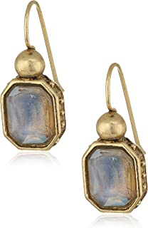 product image for 1928 Jewelry Gold-Tone Cloudy Blue Glass Drop Earrings