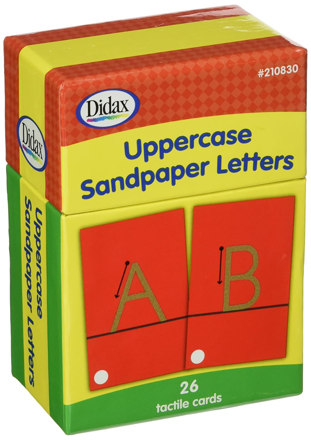 amazoncom didax educational resources sandpaper letters upper case arts crafts sewing