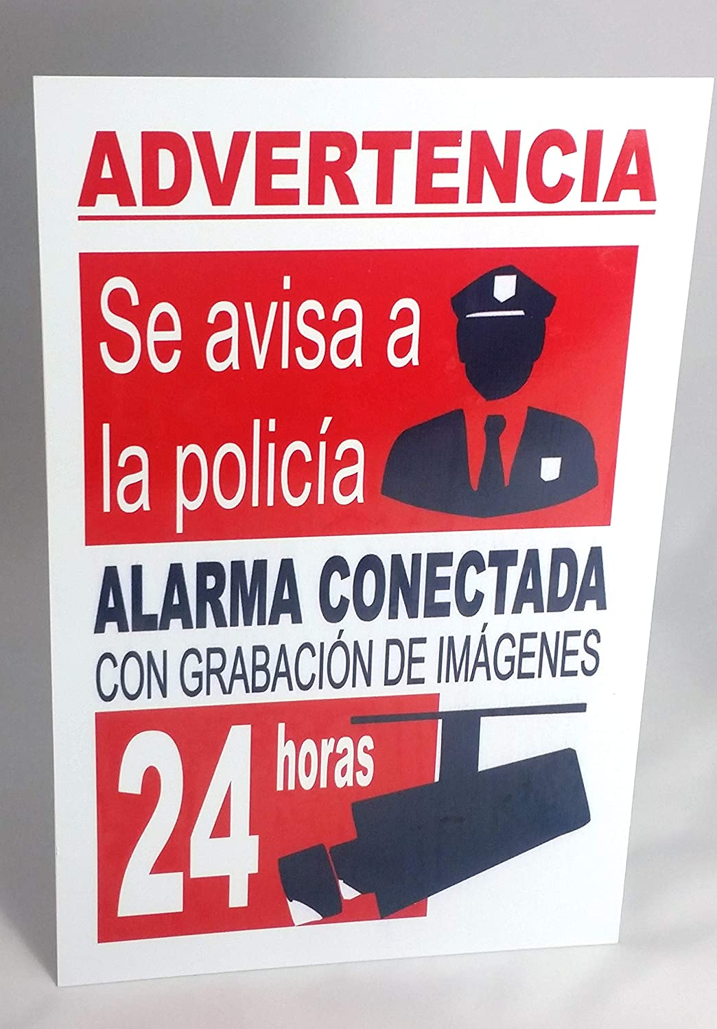 Marina Signboards Cartel Metal 30x20 cm Advertencia Alarma ...