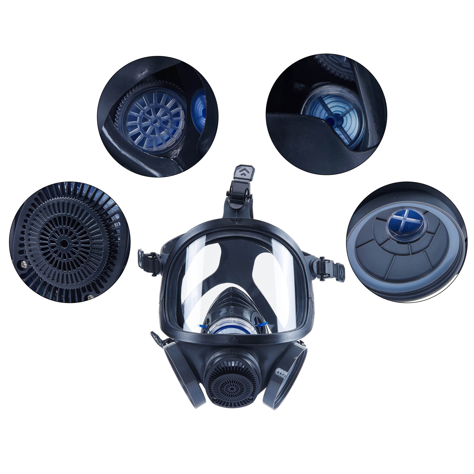 Holulo ST-M70-3 Organic Full Face Respirator Safety Mask (ST-M70-3 Mask+1 Pair 3# filter Cartridges) by Holulo (Image #8)