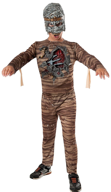 Mumie Kostüm mit Licht und Sound für Kinder Gr. S-L, Größe:L