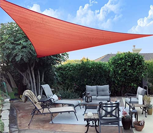 SUNNY GUARD 9'10'' x 9'10'' x 9'10'' Terra Triangle Sun Shade Sail UV Block