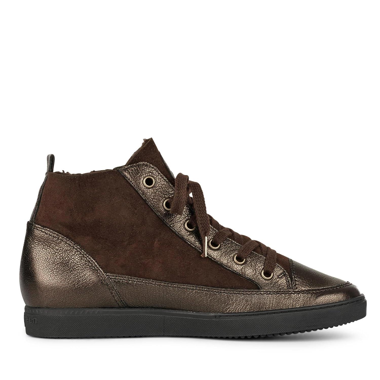 4561-001 Damen Sneaker aus Glatt- und Veloursleder Flexible Laufsohle Laufsohle Laufsohle Braun e6bcd0
