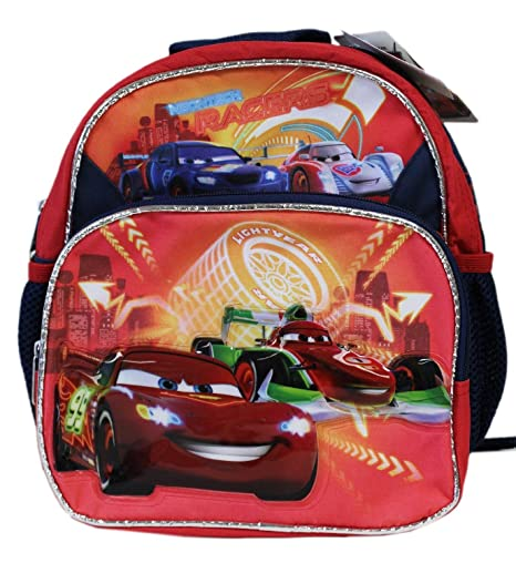 Disney Mochila de ni?os Neontech Racers Mini Cars Red Size