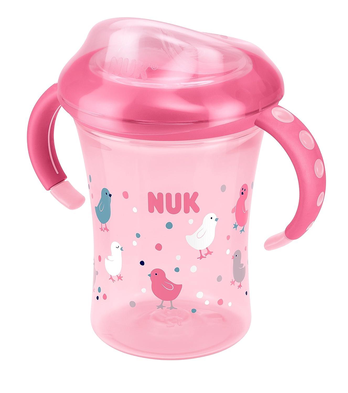 NUK Starter Cup Trinklernbecher, Silikontrinktülle, auslaufsicher, 230ml, 6+ Monate, BPA-frei, Blau Silikontrinktülle 10255356
