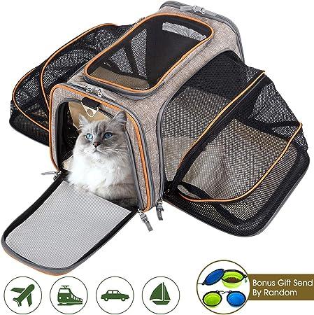 Movepeak - Transportín plegable para perros, gatos y cachorros aprobado por las aerolíneas - Incluye espacio para los artículos de tu mascota: Amazon.es: Hogar
