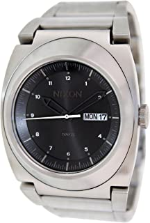 Nixon Mens A358-000-00 Silver/Black Stainless Steel Watch