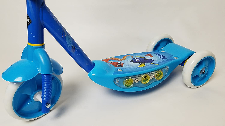Disney HUFFY 38576 - Patinete de 3 Ruedas con Cubierta iluminada, Botella de Agua a Juego y Manillar para Chidlren de 3 años en adelante: Amazon.es: Juguetes y juegos