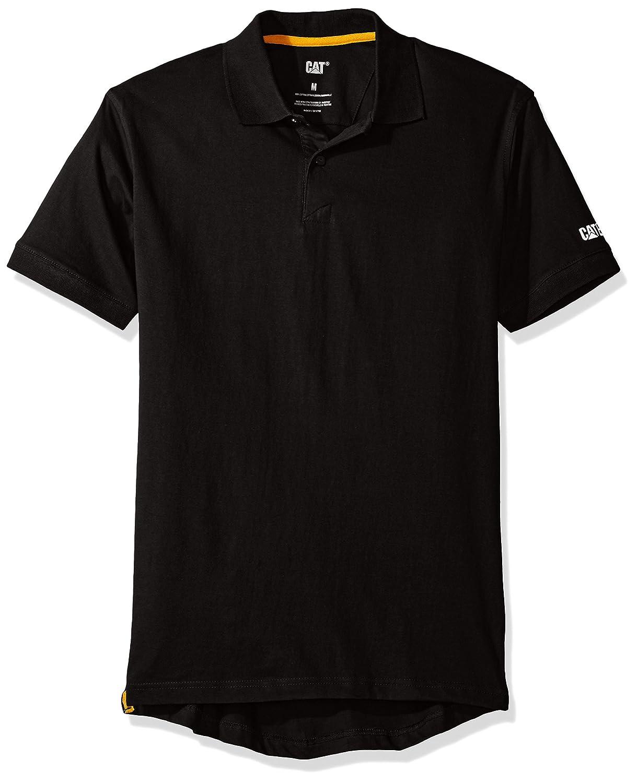 Caterpillarメンズクラシックコットンポロシャツ B01N1T7Q1Y Large|ブラック ブラック Large