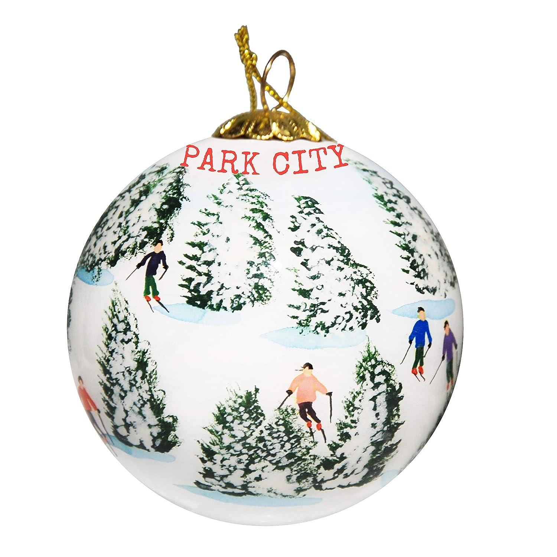 Christmas City Studio.Amazon Com Art Studio Company Hand Painted Glass Christmas