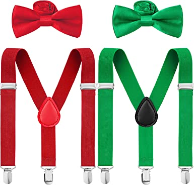 christmas bow tie Christmas bow tie /& suspenders set red suspenders green bow tie boys outfit christmas outfit christmas suspenders