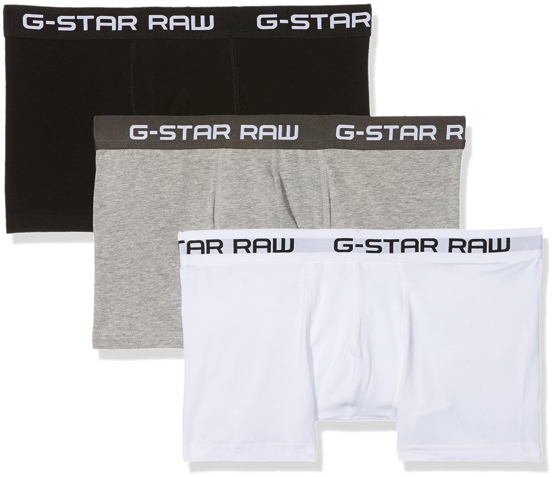 Classic Trunk 3, Pantalones Cortos para Hombre, Negro (Black/Black/Black 4248), L(Pack de 3) G-Star