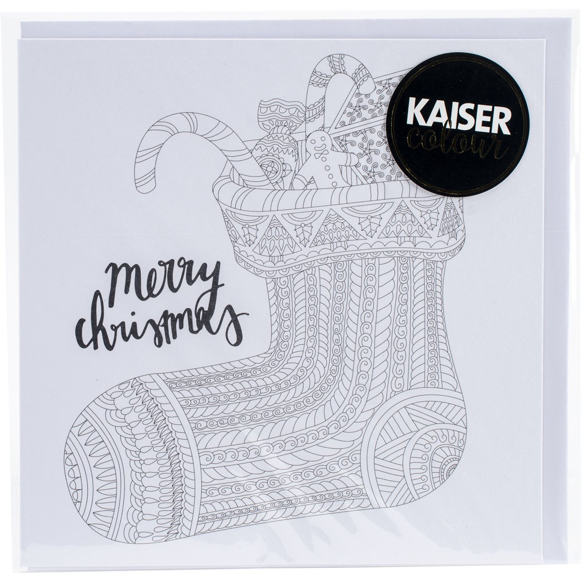 Kaisercraft Stocking Kaisercolour Gift Card with Envelope, 6 x 6 6 x 6 CL1013