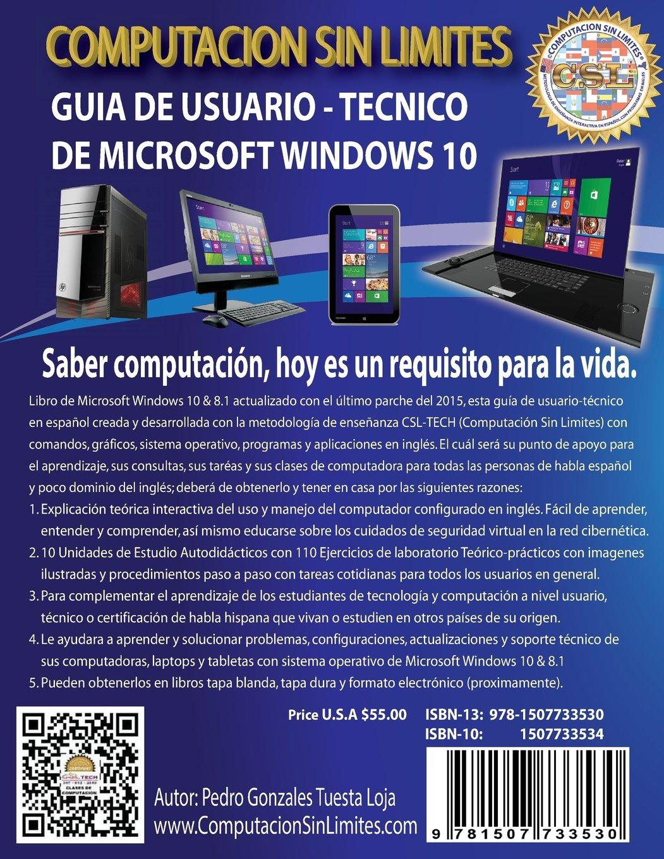 Guia de Usuario-Tecnico de Microsoft Windows 10: Computacion ...