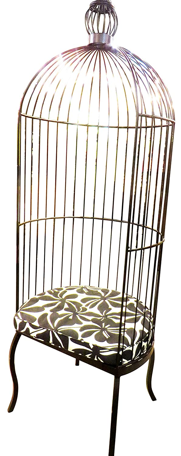 Amazon.com: Black Iron Birdcage Chair   Indoor Or Outdoor: Kitchen U0026 Dining