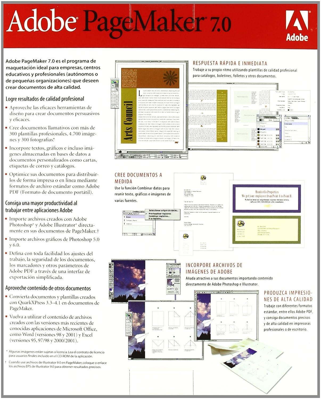 Adobe PageMaker - Paquete Completo, Versión 7.0.2, Estándar ...