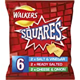 Walkers Squares Variety Snacks,6X 22g