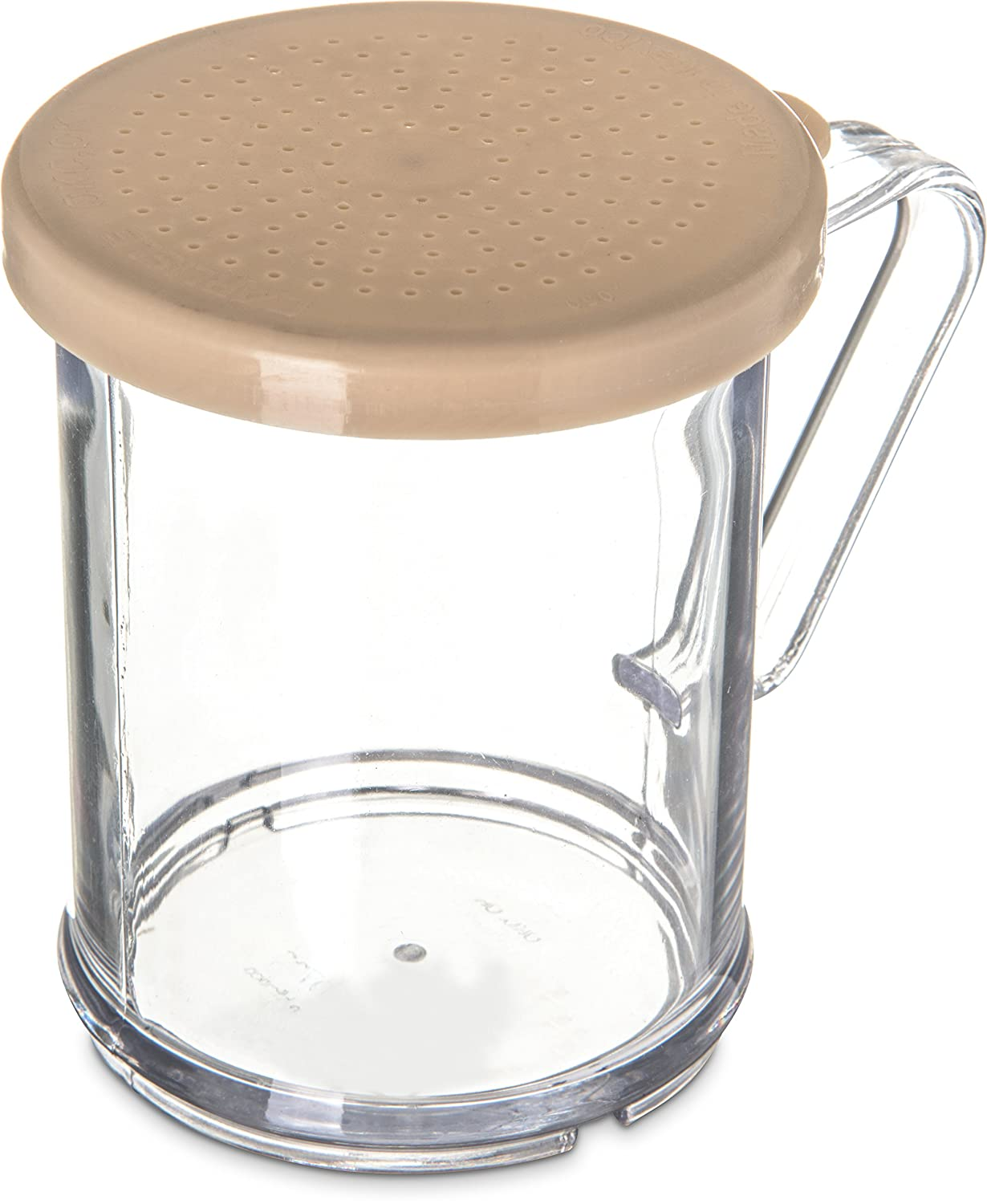 Carlisle 426004 Polycarbonate Cheese Shaker//Dredge with Lid Yellow 1 Cup Capacity Pack of 12