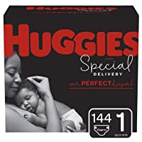 Huggies Special Delivery Hypoallergenic Baby Diapers, Size 1, 144 Ct, One Month...
