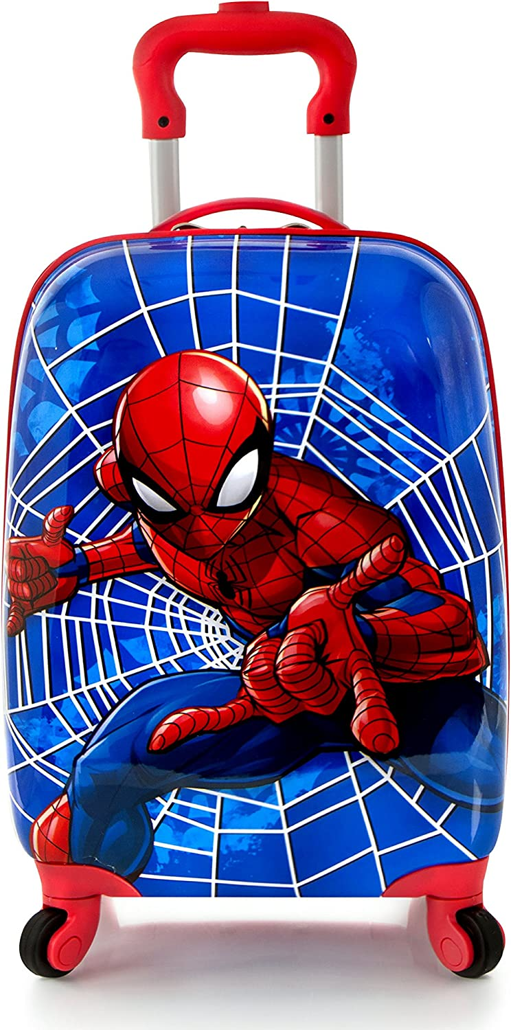 Heys America Marvel Spiderman Boys 16 Rolling Carry On Luggage Red