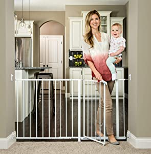 Regalo Maxi 59-Inch Super Wide Walk Thru Gate, White