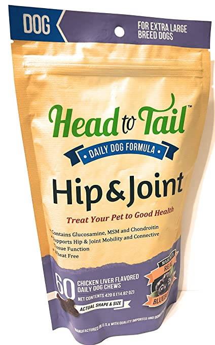 Amazon Head To Tail Daily Hip Joint Chews Chicken Liver
