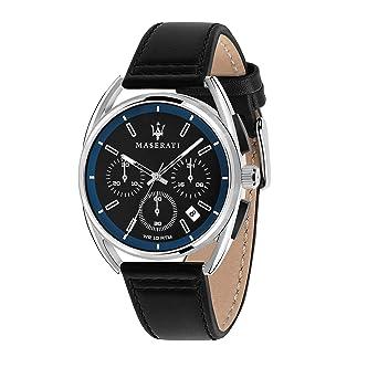 R8871632001 Chronograph Maserati Uhr Leder Quarz Mit Herren Armband f6gb7y