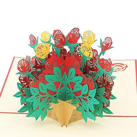 Carte Cadeau Carte Anniversaire Pour Femme Pop Up Carte3d Fleur Et
