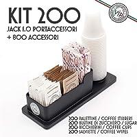 Kit Accesorios Café: 200 Vasos, Azúcar, Cucharillas