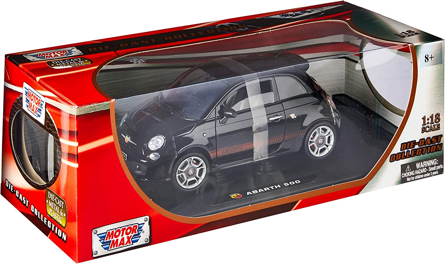 Amazon.com: Motormax 1: 18 Fiat 500 Abarth Die Cast Modelo ...