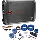 Rockville RXA-F1 1600 Watt Peak/800w RMS 4 Channel Car Stereo Amplifier+Amp Kit