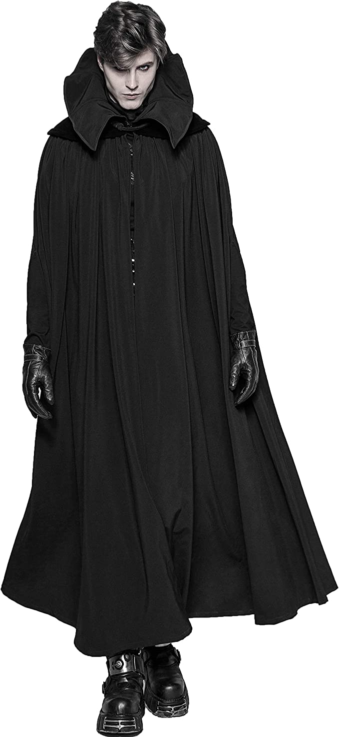 Herren Punk Schwarz Gothic Cosplay Night Count Vampire Rave N8m0nw